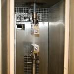 Wärmekammer für Zug-/Druckprügfungen und Schrumpfkraftmessungen