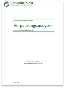 Der Grüne Punkt: Verpackungsanalysen