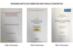 Wissenschaftliche Arbeiten der Familie Hünemeyer